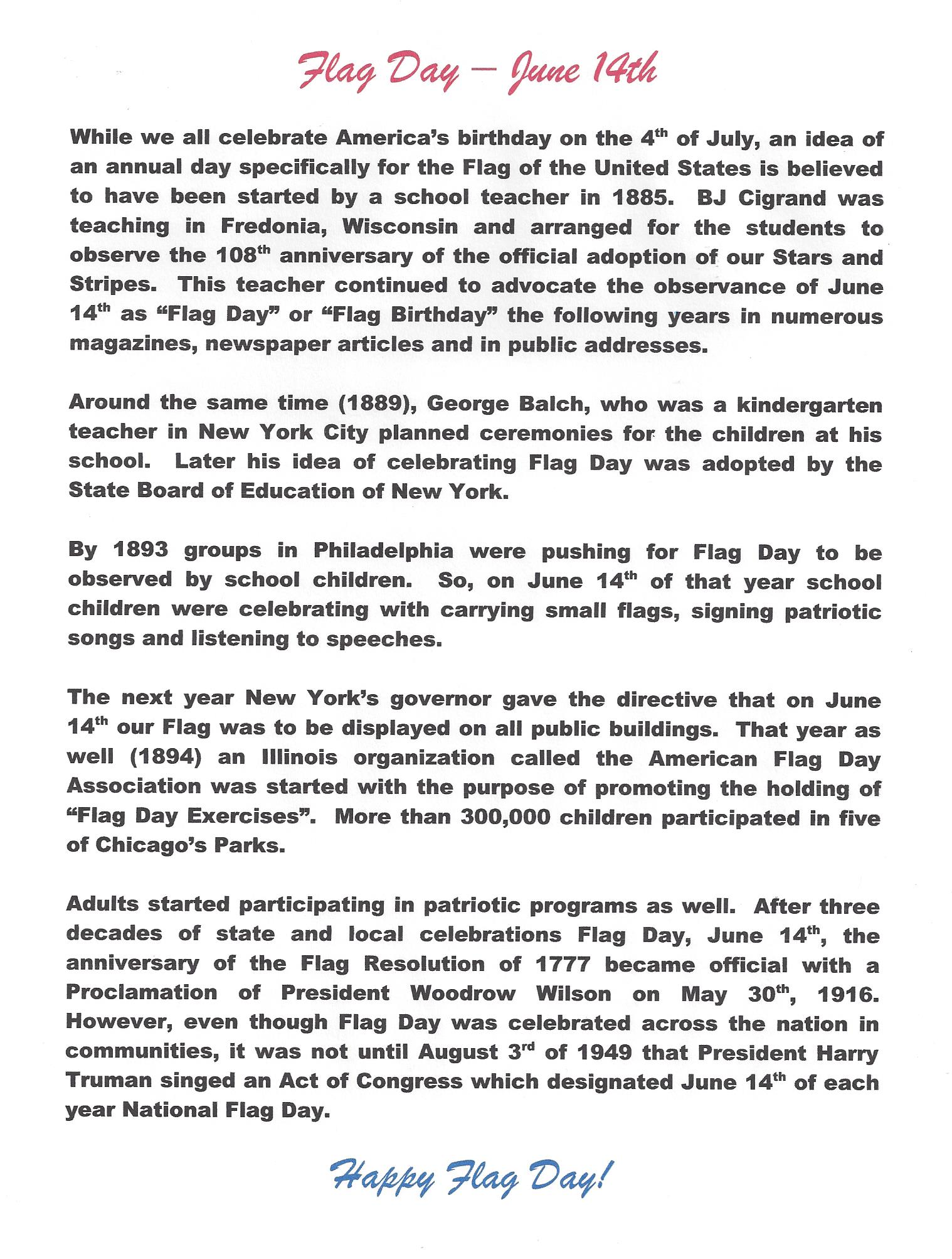 Flag Day - History Scanned